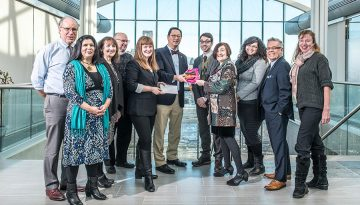 UBC's Presidential Working Committee on Disability Culture, Art and Equity Serves President Ono a Stylish Bow Tie on a Silver Platter