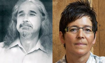 Photo: L-R: Dr. Cash Ahenakew (EDST), Dr. Tracy Friedel (EDCP)