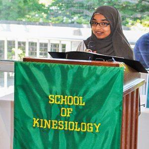 Class Speaker Nejat Hassen, School of Kinesiology Graduating Class of 2017