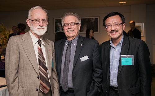 Above: BEd Donor Appreciation Dinner. L-R: Dr. Colin Scarfe (donor), Dean Blye Frank, and Mr. David Choi (donor).
