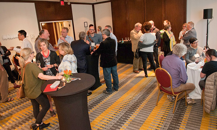 Alumni, faculty, and friends gathered at the UBC Alumni Reception at CSSE Toronto.