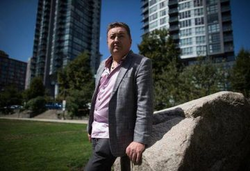Former Neo Nazi Tony McAleer poses for a photograph in Vancouver, B.C., on Thursday August 17, 2017.  Photo: Darryl Dyck/THE CANADIAN PRESS