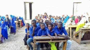 Students at the Kudhaa Primary School Recognition Event.